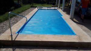 Fóliás medencén - Szolár takaró