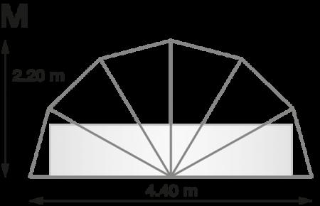 Buborék Medencetakaró M méretben kör alapterületű medencére, medencefedés, medencesátor,