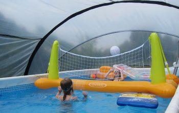 SunnyTent-oval L méretű buborékos medencetakarás