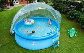 SunnyTent-kör medence buboréktakaró L méret, D5,40m