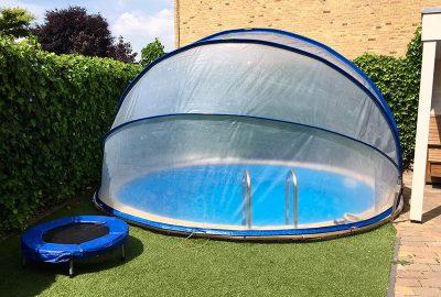 kör buborékos medencefedés SunnyTent, buborékos medencefedés, ideális felfújható, fémpalástú, fóliás, pancsoló, barkácsáruházi medencék lefedésére
