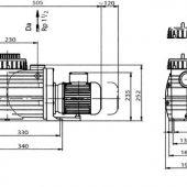 BADU TOP II 8m3_h szűrő szivattyúház méret táblázat