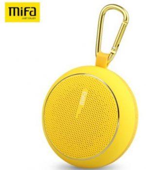 MIFA F1 IP45 Bluetooth hangszoro, karabineres kompakt fekete, könnyű hordozás, farmerzsebben is elfér, kerékpározáshoz, túrázáshoz ideális