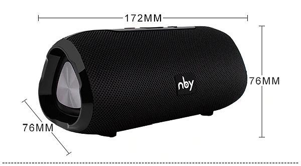 NBY6670 Bluetooth hangszóró09 készülék méretei, súlya: 472g
