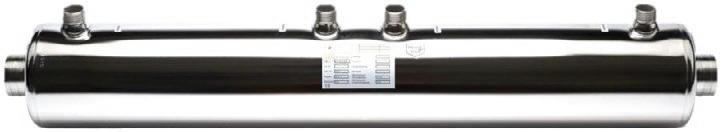 """Spirál csőregiszteres hőcserélő AISI 316L acélból vagy titán ötvözetből. Hatékonyan működik szolár, hőszivattyús és kondenzációs gázkazános rendszerekkel. Sós vizes medencéhez a titán cső spirállal szerelt """"T"""" típus használható."""