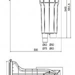Aquamax Classic fóliás, betonos medencékhez való szkimmer, méretrajz
