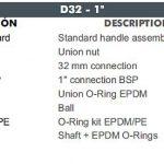 03 D32 CEPEX UP.60.SF5 uj std gömbcsap robbantott ábra