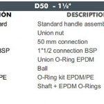 05 D50 CEPEX UP.60.SF5 uj std gömbcsap robbantott ábra