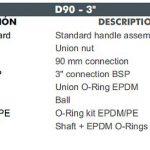 08 D90 CEPEX UP.60.SF5 uj std gömbcsap robbantott ábra