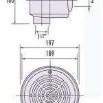 Padlóürítô mûanyag, fóliás medencéhez UIL-FL méretrajz 300x500