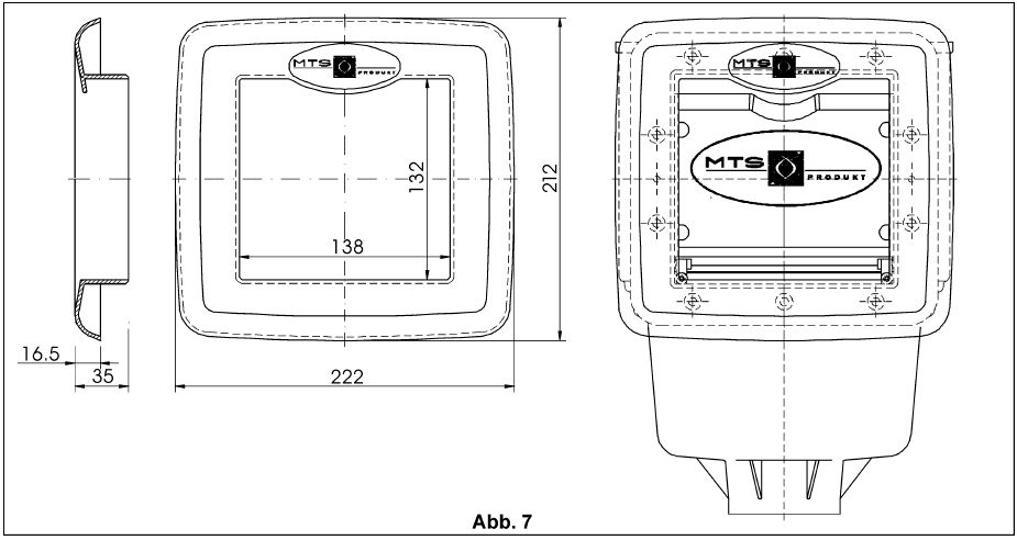 V10 szkimmer betonos, fóliás medencéhez, takaróblende, MTS