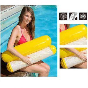 Új nyári felfújható úszómedence strand légmatracok, összecsukható úszómedence szék, függőágy, vizi pehenéshez többféle színben