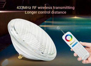 27W_12V színváltós LEDES SMART OKOS medenceizzó VILÁGITÁS RGB + 433MHz távirányító