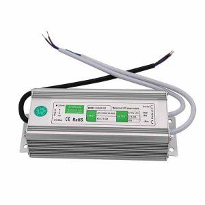 80W Led tápegység IP67 12V, 6,5A, vízálló, kötetlen ledes medencevilágításokhoz, ledes medenceizzókhoz