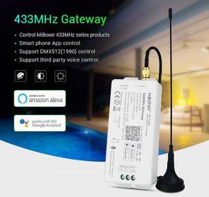 Mi-Light WL-433 433MHz Gateway szökőkút, medencevilágítás RGB - okos medence vezérlő