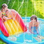 Nyári felfújható kültéri locsolópárna, szökőkút játék gyerekek részére, a nyári meleg, hőség elviselésére