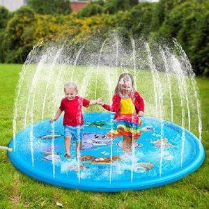 Nyári felfújható kültéri locsolópárna, gyerekzuhany,gyerekszökőkút játék gyerekek részére, a nyári meleg, hőség elviselésére