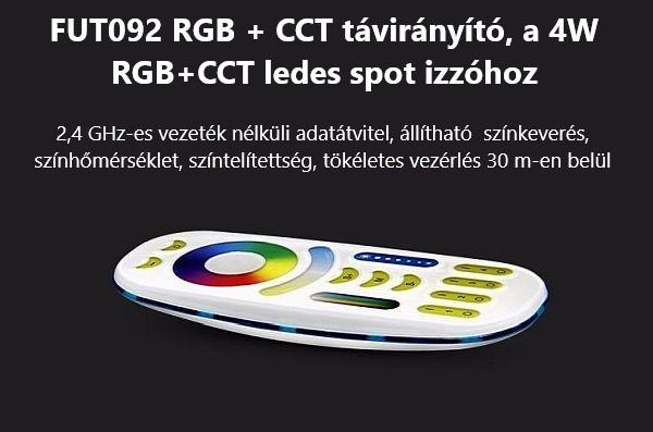 06-01 FUT-092 Mi-Light 2,4 GHz-es rádió frekvenciás 4 zónás távirányító