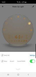 Titroba Smart-Home telefonos Applikációval vezérelhető, Színes napfelkelte ébresztőóra Intelligens hangalapú vezérléssel, Alexa, Google, Lynx vagy okostelefon App-al állítható/vezérelhető