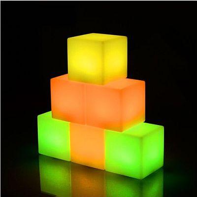 Dekorációs kockalámpa 20cm-es méretben, RGB ledes színváltós03 400x400