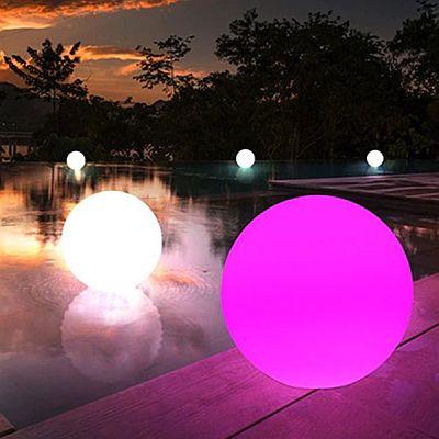Kültéri, Dekorációs RGB színváltós, gömblámpa 25cm és 30cm-es átmérőben 02