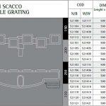 Twin Scacoo túlfolyórács flexibilis H=25mm, Szél=200mm, 250mm, 300mm, 330mm adatáblázat