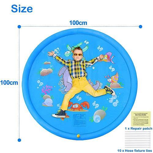 Nyári locsolószőnyeg, gyerek szökőkút 100cm-es termék méretbemutatása