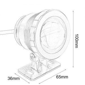 10W_12V Mini LEDES SZÖKŐKÚT VILÁGITÁS RGB - SZÍNVÁLTÓS lámpa méretrajz 11
