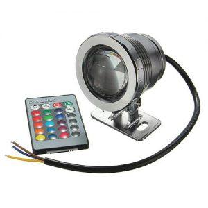 10W_12V Mini LEDES SZÖKŐKÚT VILÁGITÁS RGB - SZÍNVÁLTÓS lámpa+távirányító 10
