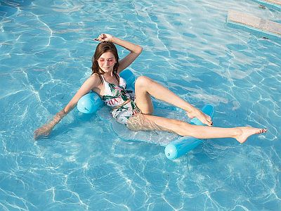 Felfújhatós PVC medenceszék, strand matrac matracfotel 13