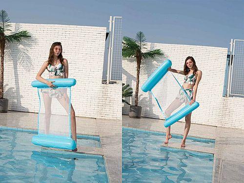 Felfújhatós PVC medenceszék, matracfotel 16 Badushow.hu