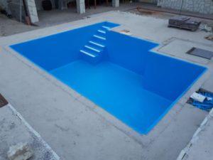 Tállya - fólia burkolatú medence - Adriakék színben
