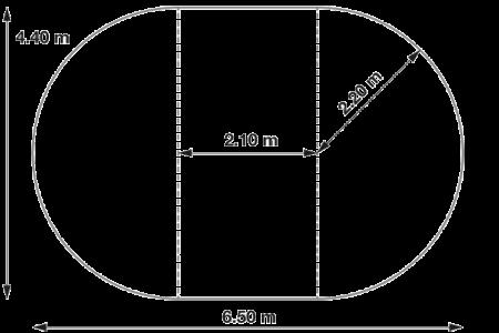06 alaprajz-SunnyTent-oval-M méret alapterület, OVAL buborékos medencefedés SunnyTent, medencetakaró, ideális felfújható, fémpalástú pancsolók és kisebb méretű ovális formájú medencék takarására