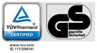 TÜV GS tanúsítvány logo 200x111 BADU SPECK Badu Top II 8-12-14m3/h szűrőszivattyú