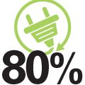 01 akar 80%-os megtakarítas logo