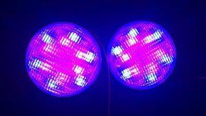 Badushow RGB színváltós POWER ledes medenceizzó 24w és 36w teljesítményben medenceizzó, medencelámpa
