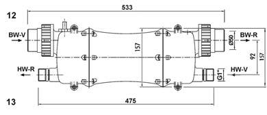 Warmenator műanyagházas hőcserélő 28 - 40kW