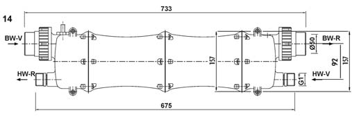 Warmenator műanyagházas hőcserélő 75kW
