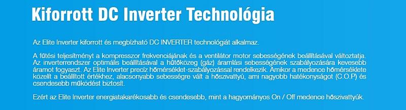 Elite inverter medence hőszivattyú kiforrott DC inverter technológia ismertető szöveg