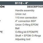 09 D110 CEPEX UP.60.SF5 uj std gömbcsap robbantott ábra