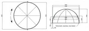 SPA polikarbonátos lefedés 3mm viztiszta üvegezéssel 695x240