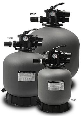 PRAKTIK SZÛRÔTARTÁLYOK PRAKTIK FILTRATION TANKS Polietilén tartály, 6 állású tetôszeleppel. Magánhasználatú medencékhez ajánlott, maximális üzemi nyomás 2,0 bar, maximális hômérséklet 40 °C, javasolt szûrôhomok méret 0,5 – 1,2 mm.