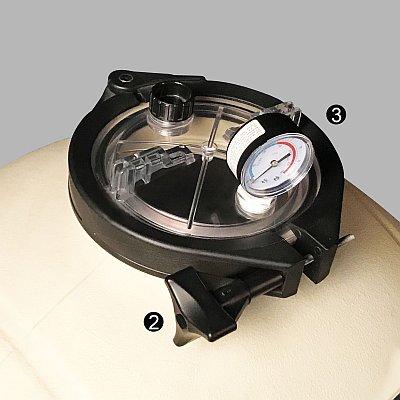 SIERRA mfs24 PE oldal és felülszelepes szűrőtartály-fedél rögzítés 400x400
