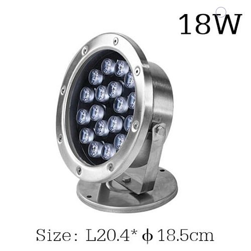 RGB ledes víz alatti 3W 9W 18W 18W 24W teljesítményekben, medence- és szökőkút lámpa, DC12V feszültséggel