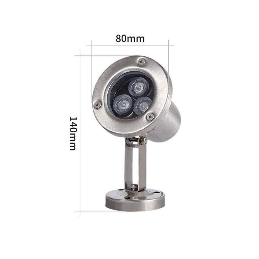 3W/12V teljesítményű RGB ledes víz alatti 3W 9W 18W 18W 24W teljesítményekben, medence- és szökőkút lámpa, DC12V feszültséggel
