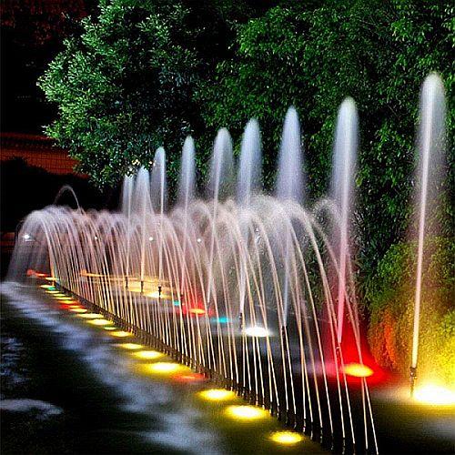 Rozsdamentes LEDES SZÖKŐKÚT VILÁGITÁS RGB - SZÍNVÁLTÓS Smart-Home lámpák, RF távirányítóval, Wi-Fi modullal
