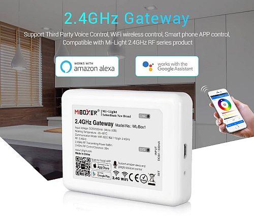 Miboxer WL-Box1 2.4GHz Wifi vezérlő egység, DC5V IOS/Andriod rendszer, Applikáció vezérléssel, kompatibilis Alexa és Google Home rendszerekkel