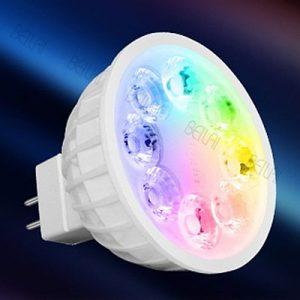 Mi_light MR16 GU5.3 foglalat, RGB 4W spotlámpa izzó masszázsmedencékhez, CCT+2,4GHz WiFi átjáró vezérlő