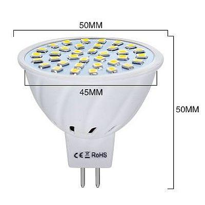 12V GU5.3 MR16 SMD 2835 White spotizzó, masszázsmedencékbe, masszázsmedencékhez vagy spot izzóval