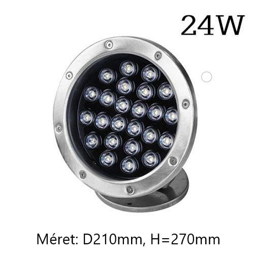 24W/12V RGB ledes víz alatti 3W 9W 18W 18W 24W teljesítményekben, medence- és szökőkút lámpa, DC12V feszültséggel